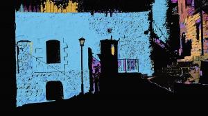 tzfat sunrise blue house